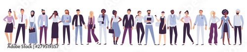Fototapeta Business company people. Office team, multicultural collective workers group and businessman community vector illustration obraz