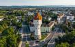 canvas print picture - Water tower in Wiener Neustadt