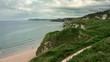 Portrush whiterocks County Antrim beach and cliffs Irish coastal aerial