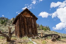 Abandoned Mining Structure / Hut In The Bayhorse Ghost Town Of Idaho