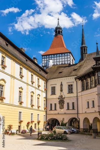 Obraz na plátně  Renaissance castle in Blatna town, Czech Republic