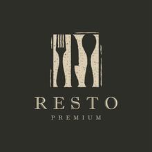 Restaurant Logo And Icon Design Vector. Fork, Knife, Spoon Logo.