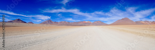 Foto auf Leinwand Beige Beautiful Mountains Landscape with sky and clouds in Bolivia