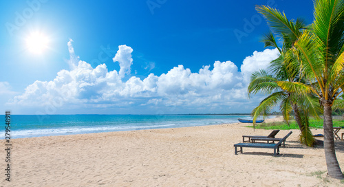 Fototapeten Strand Beach and beautiful tropical sea.