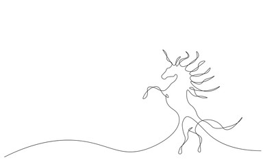 Unicorn fantasy animal vector illustration