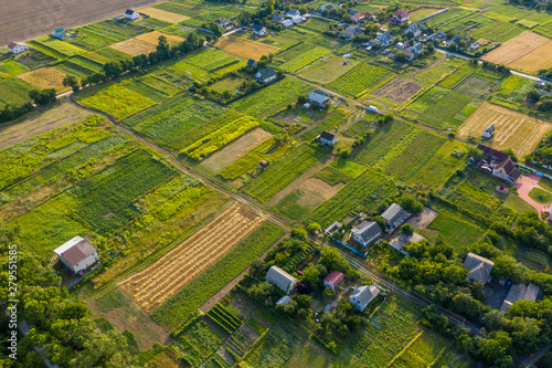 Slika na platnu Arial view over small village