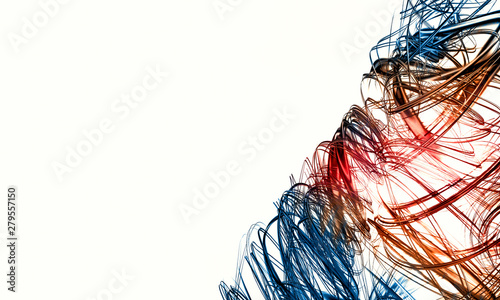 Photo 3D rendering of abstract digital technology background