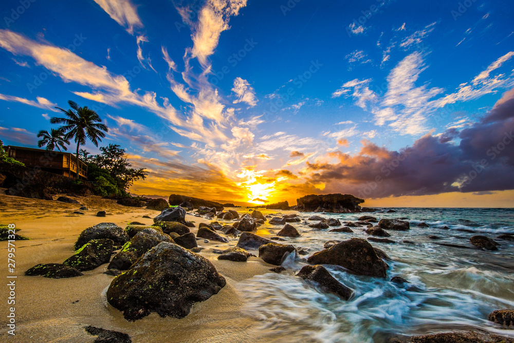 Fototapeta North Shore Oahu Sunset