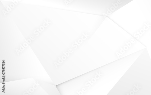 Obrazy białe  abstract-white-3d-chaotic-polygonal-surface-background-illustration-vector