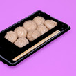 canvas print picture - Chinese dumplings Minimal food concept