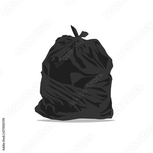 Fototapety, obrazy: Black plastic bag