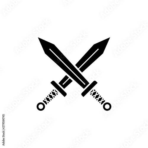 sword, icon, swords, vector...