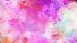 canvas print picture - brush painting with thistle, mulberry  and orchid background-color