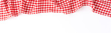 Red Checkered Tablecloth Isola...