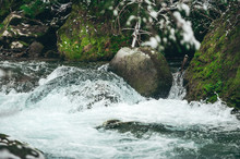 Big Boulders In Mountain Creek Closeup.
