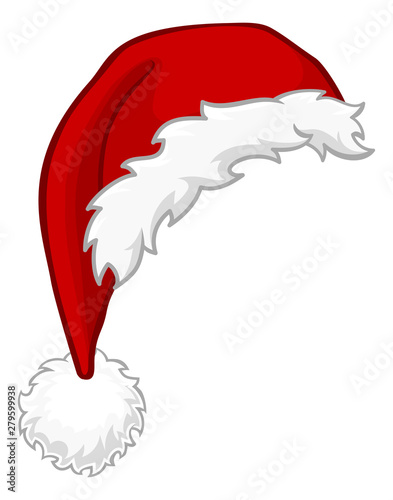 Obraz A Santa Claus hat Christmas cartoon design element - fototapety do salonu