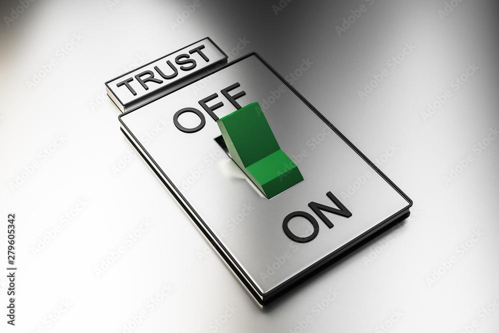 Fototapeta Abstract green trust switch