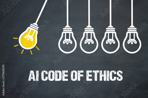 AI Code of Ethics Canvas Print