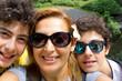 selfie of happy family in Newyork