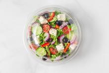 Healthy Greek Salad In Plastic...