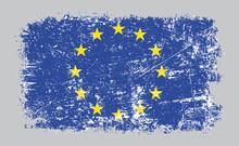 Grunge Old European Union Flag...
