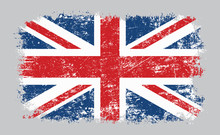 Grunge Old UK British Flag Vec...