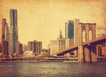 Brooklyn Bridge And Lower Manh...