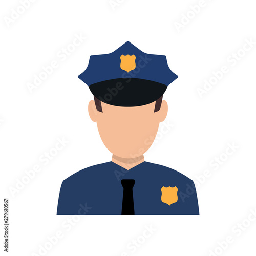 Fotografia, Obraz Police officer avatar illustration