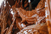 Carved Candle For Decoration In Buddhist Festival
