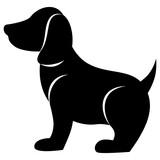 Fototapeta Fototapety na ścianę do pokoju dziecięcego - Dog icon