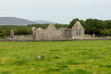 Part Of The 11th Century Complex Of Kilmacduagh In Ireland