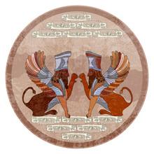 Ancient Sumerian Culture. Lamassu. Winged Lion. Akkadian Mythology. Babylonian Culture. Persepolis. Mesopotamia. Middle East History. Ancient Civilization Art