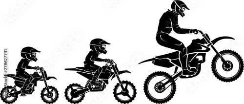 Obraz na plátně Motocross Race Extreme Evolution