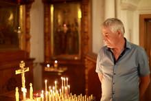 Senior Man In Russian Orthodox Church