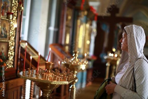 Tela Woman in russian orthodox church