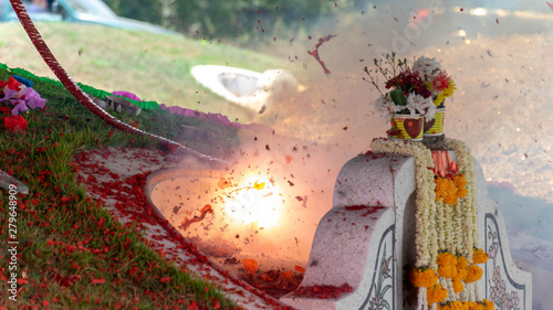 Papel de parede Firecrackers in the Qingming Festival