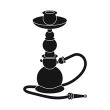 Isolated Object Of Hookah And ...