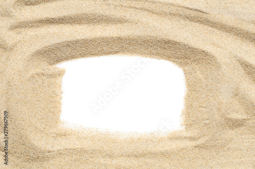 Acrylic Prints Stones in Sand Sand frame