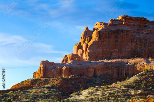 Foto auf AluDibond Schokobraun A beautiful sandstone morning in beautiful Southern Utah.