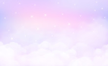 Stars In Could Sky Background And Pastel Color. EPS 10