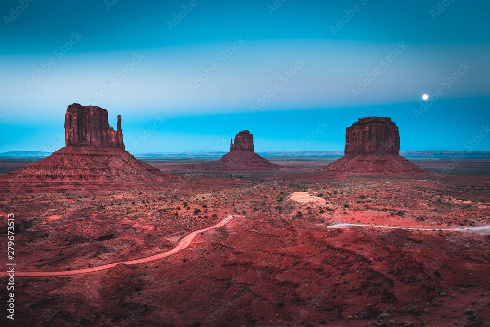 Fototapeta Monument Valley in moonlight, Arizona, USA