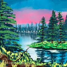 Landscape Bob Ross Inspired