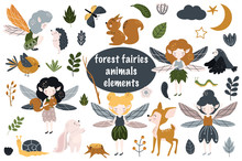 Set Of Isolated Forest Fairies...