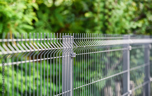 grating wire industrial fence panels, pvc metal fence panel Fototapet