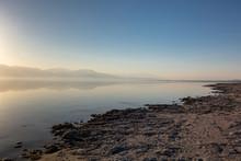 Sunset At The Salton Sea, California