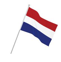 Netherlands National Flag. Vector Illustration