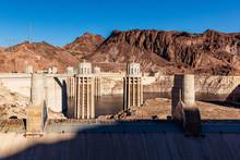 The Hoover Dam On The Arizona Nevada State Border