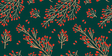 Green Christmas Seamless Patte...
