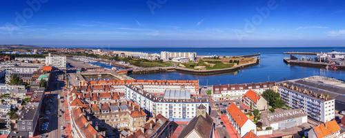 Fotografia, Obraz  Vue du phare, la ville de Calais et la mer, Calais, Hauts-de-France