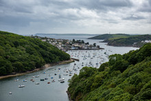 View Of Polruan And Fowey With...